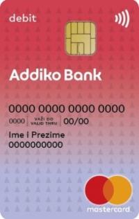 Addiko Debit Mastercard Kartica