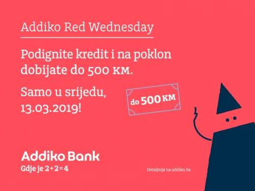 Addiko Red Wednesday 13 3