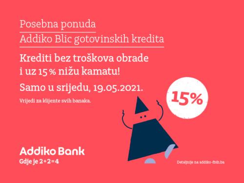 Posebna Ponuda Addiko Blic Gotovinskih Kredita
